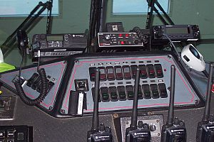 Engine 58's command console dashboard.
