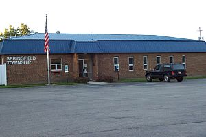Springfield Township Road Dept. building on E. Leffel Lane